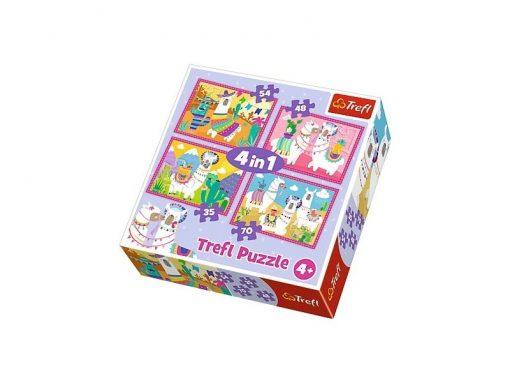 puzzle 4 en 1 llamas