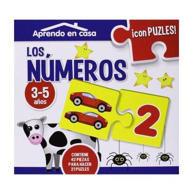 aprendo en casa números con puzzles