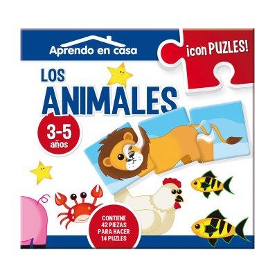 aprendo en casa animales con puzzles