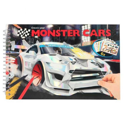 Cuaderno Monster Car Top model