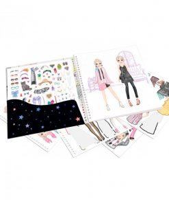 cuaderno con calcomanias top model