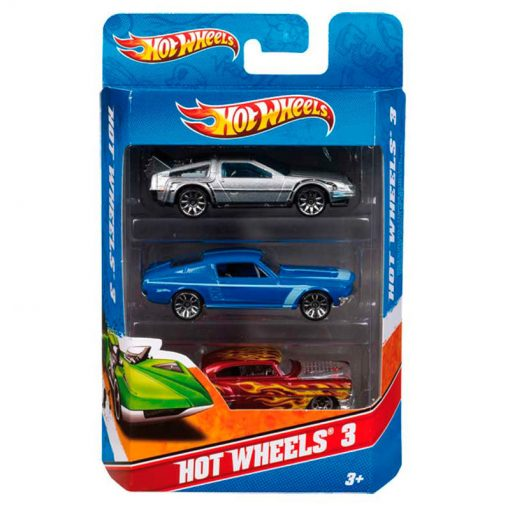 blister 3 coches hot wheels