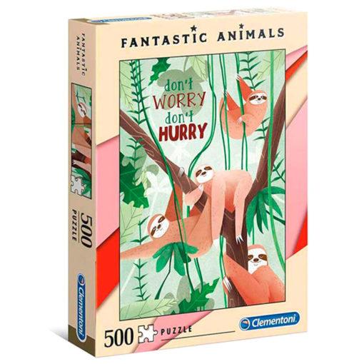 puzzle-sloth-fantastic-animals-500p