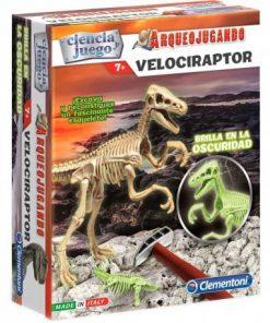 arqueojugando-velociraptor-fluorescente
